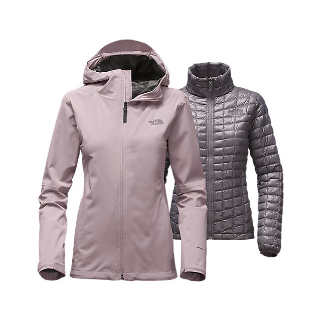 Discount NORTH FACE WOMEN'S THERMOBALL TRICLIMATE JACKET QUAIL GREY ONLINE