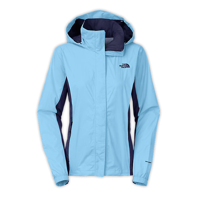 Discount NORTH FACE WOMEN'S RESOLVE JACKET POWDER BLUE/PATRIOT BLUE ONLINE