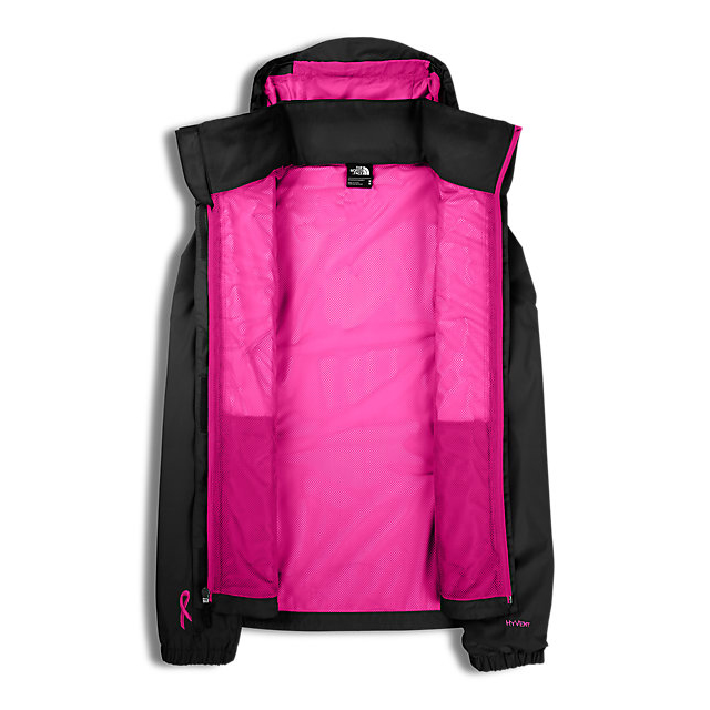Discount NORTH FACE WOMEN\'S PINK RIBBON RESOLVE JACKET BLACK / MEADOW PINK ONLINE