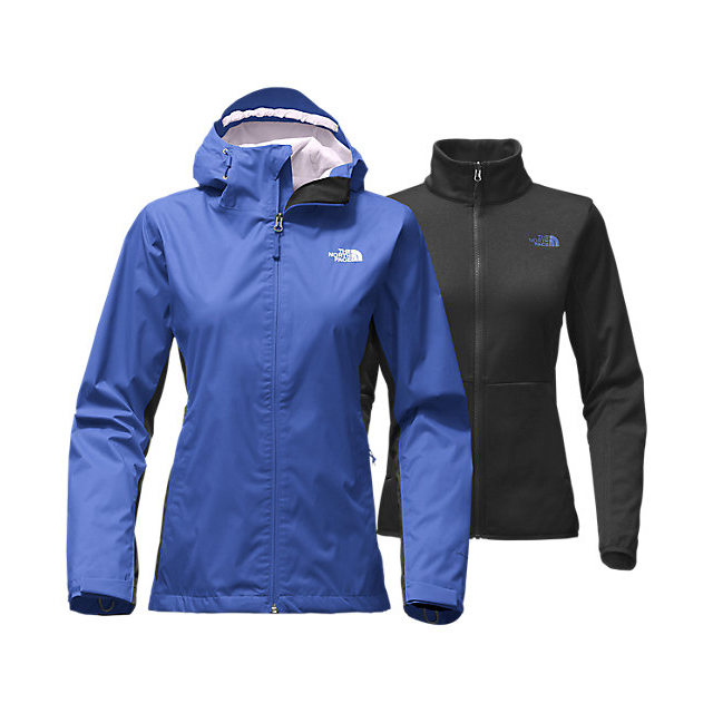Discount NORTH FACE WOMEN'S ARROWOOD TRICLIMATE JACKET AMPARO BLUE DOBBY/BLACK ONLINE