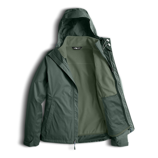 Discount NORTH FACE WOMEN\'S ARROWOOD TRICLIMATE JACKET BALSAM GREEN DOBBY ONLINE