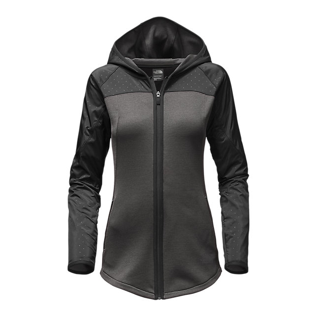 Discount NORTH FACE WOMEN'S SPARK FULL-ZIP HOODIE DARK GREY HEATHER/BLACK ONLINE