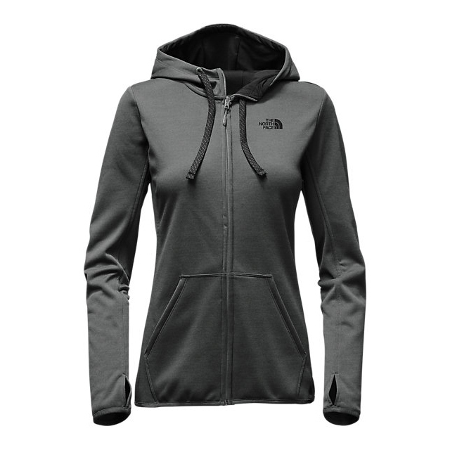 Discount NORTH FACE WOMEN'S FAVE LFC FULL ZIP HOODIE DARK GREY HEATHER (STD)/BLACK ONLINE