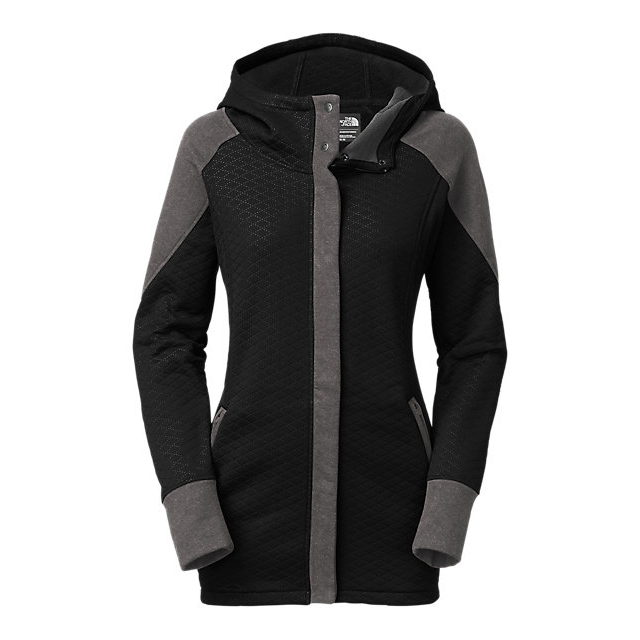 Discount NORTH FACE WOMEN\'S RECOVER-UP JACKET BLACK /DARK GREY HEATHER (STD) ONLINE