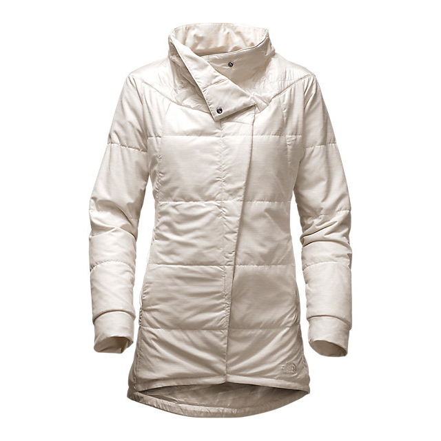 Discount NORTH FACE WOMEN'S LONG PSEUDIO JACKET MOONLIGHT IVORY HEATHER/MOONLIGHT IVORY ONLINE