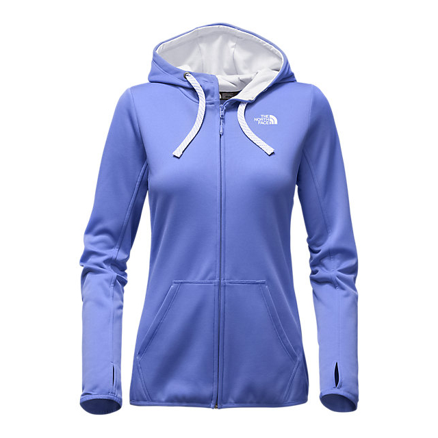 Discount NORTH FACE WOMEN'S FAVE LFC FULL ZIP HOODIE STELLAR BLUE/VAPOROUS GREY ONLINE