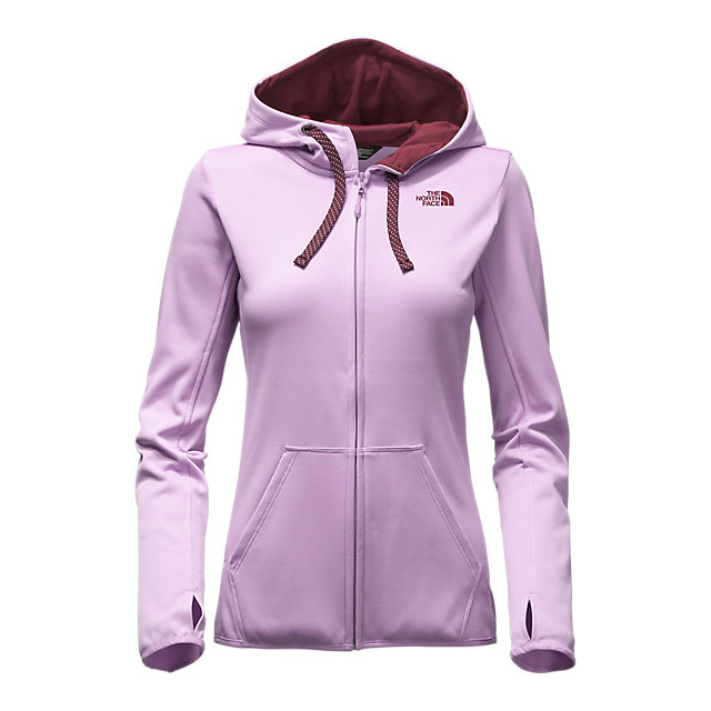 Discount NORTH FACE WOMEN\'S FAVE LFC FULL ZIP HOODIE LUPINE/DEEP GARNET RED ONLINE