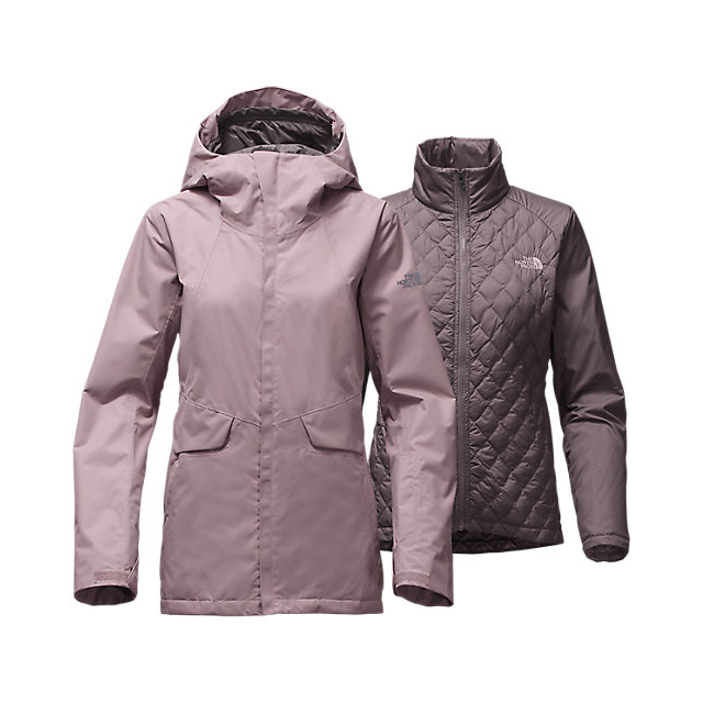 Discount NORTH FACE WOMEN'S INITIATOR THERMOBALL TRICLIMATE JACKET QUAIL GREY ONLINE