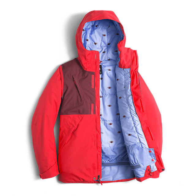 Discount NORTH FACE WOMEN\'S CONNECTOR JACKET HIGH RISK RED/DEEP GARNET RED ONLINE