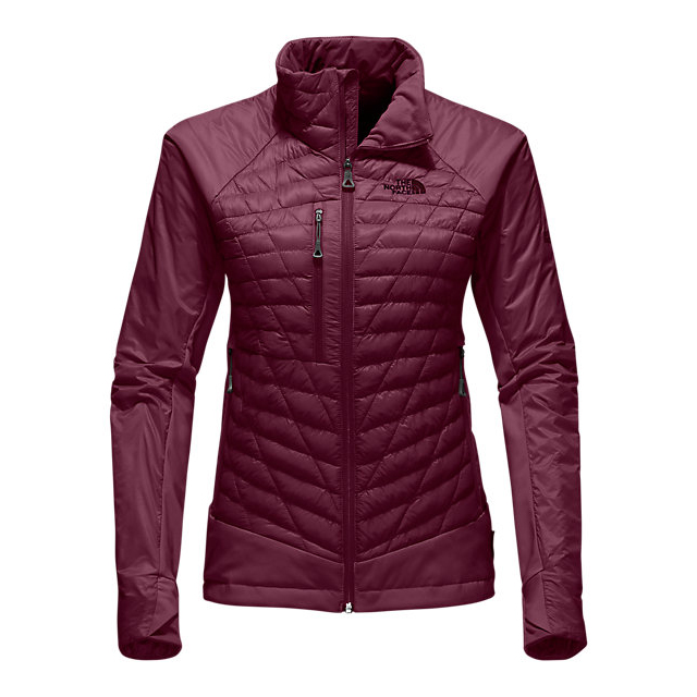 Discount NORTH FACE WOMEN'S DESOLATION THERMOBALL  JACKET DEEP GARNET RED ONLINE