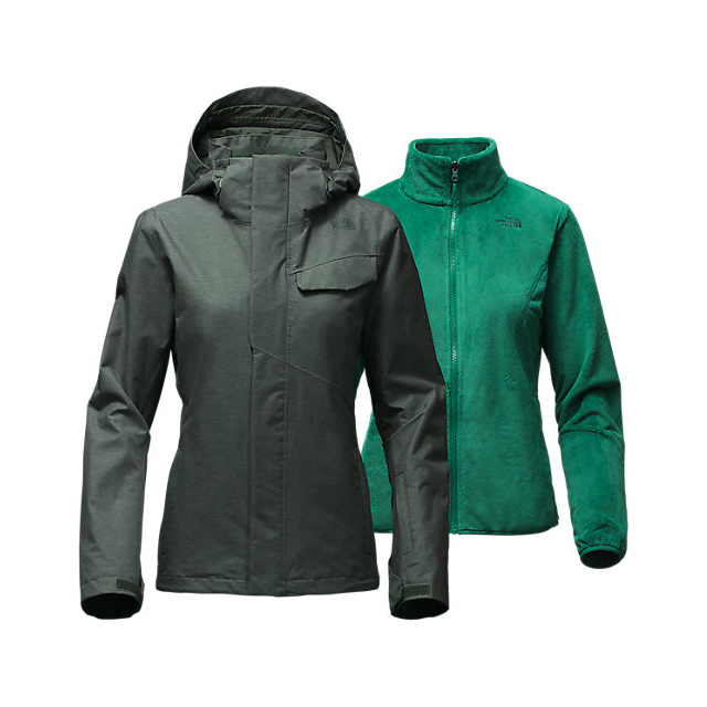 Discount NORTH FACE WOMEN'S HELATA TRICLIMATE  JACKET DARKEST SPRUCE ONLINE