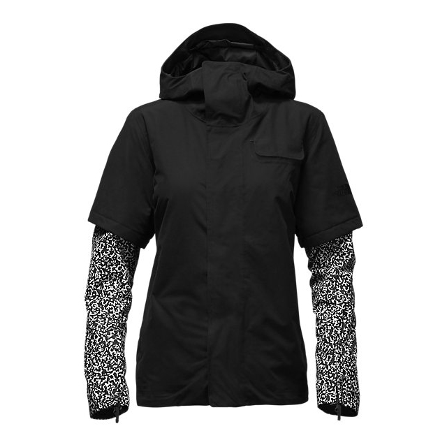 Discount NORTH FACE WOMEN'S STRUTTIN JACKET BLACK-BLACK WHITEOUT PRINT ONLINE