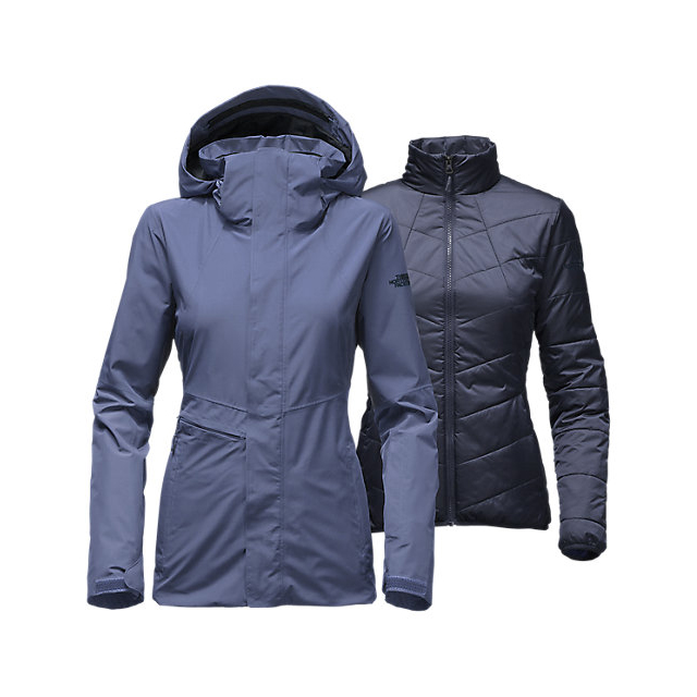 Discount NORTH FACE WOMEN'S GARNER TRICLIMATE JACKET COASTAL FJORD BLUE ONLINE