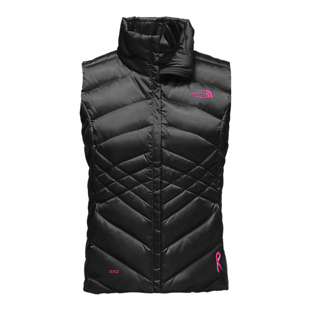 Discount NORTH FACE WOMEN\'S PINK RIBBON ACONCAGUA VEST BLACK / MEADOW PINK ONLINE