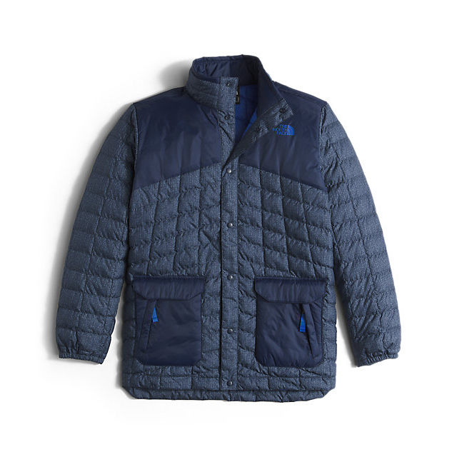 Discount NORTH FACE BOYS' HAYDEN THERMOBALL JACKET COSMIC BLUE DENIM PRINT ONLINE
