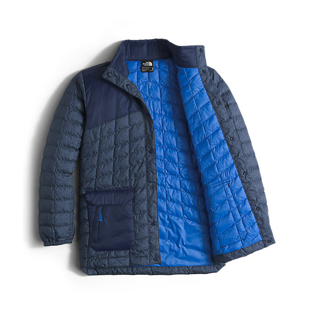 Discount NORTH FACE BOYS\' HAYDEN THERMOBALL JACKET COSMIC BLUE DENIM PRINT ONLINE