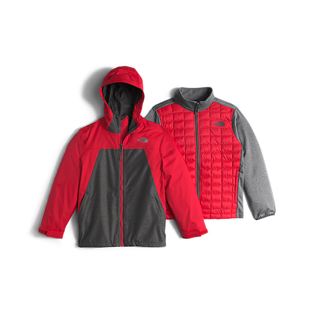 Discount NORTH FACE BOYS' THERMOBALL TRICLIMATE RED ONLINE