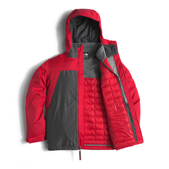 Discount NORTH FACE BOYS\' THERMOBALL TRICLIMATE RED ONLINE