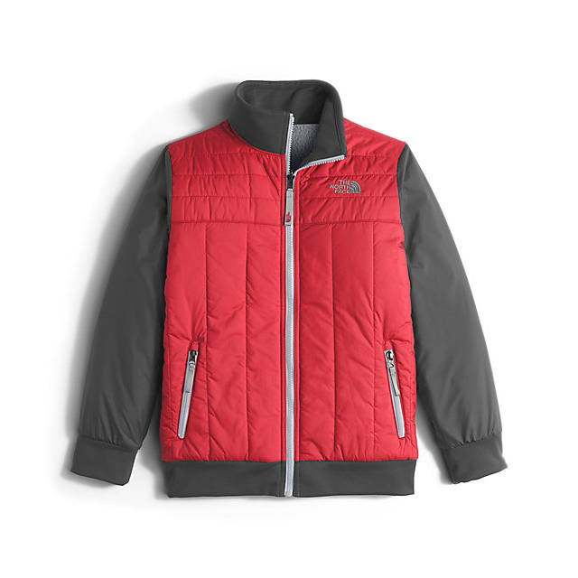 Discount NORTH FACE BOYS' REVERSIBLE YUKON JACKET RED ONLINE