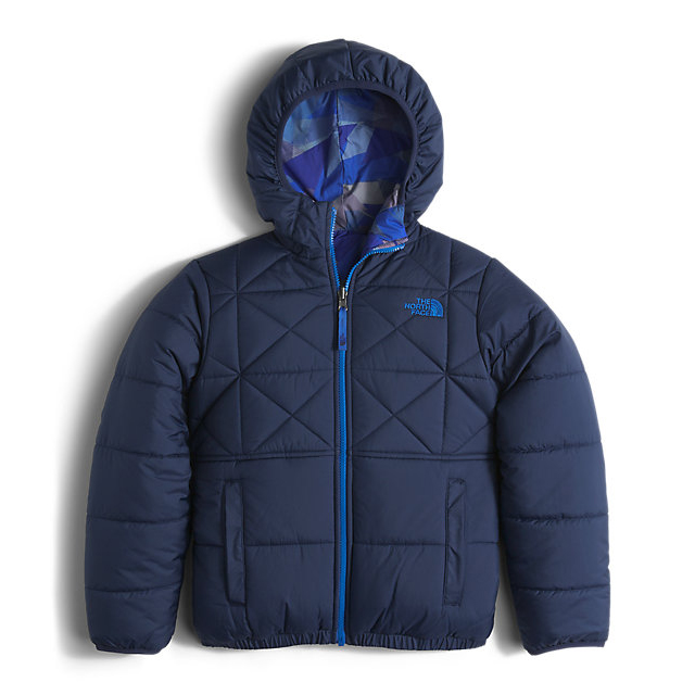 Discount NORTH FACE BOYS' REVERSIBLE PERRITO JACKET COSMIC BLUE ONLINE