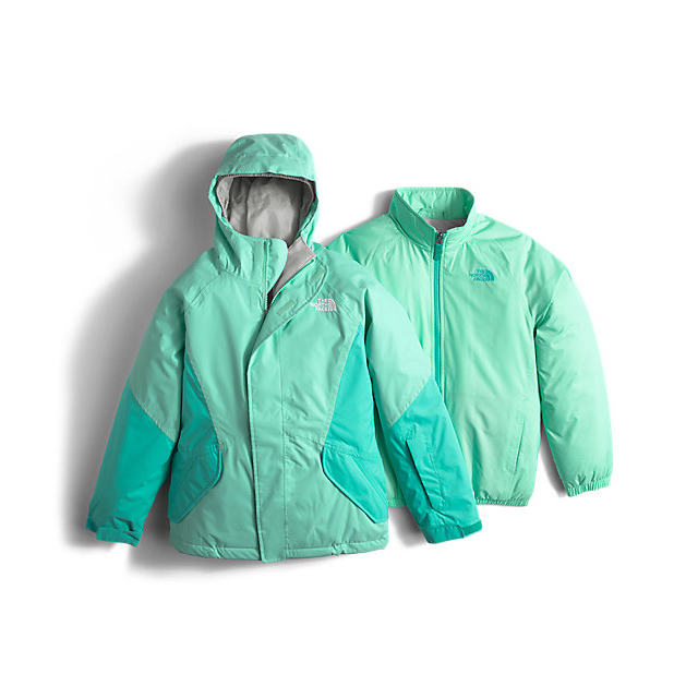Discount NORTH FACE GIRLS' KIRA TRICLIMATE JACKET ICE GREEN ONLINE