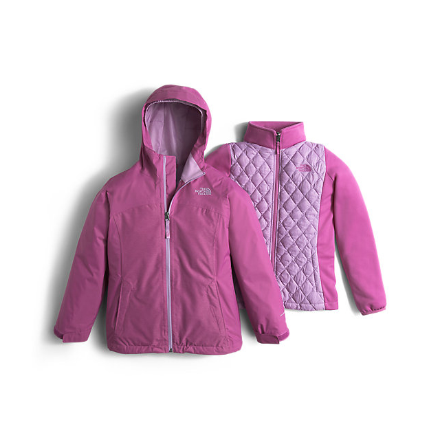 Discount NORTH FACE GIRLS' THERMOBALL TRICLIMATE JACKET WISTERIA PURPLE HEATHER ONLINE