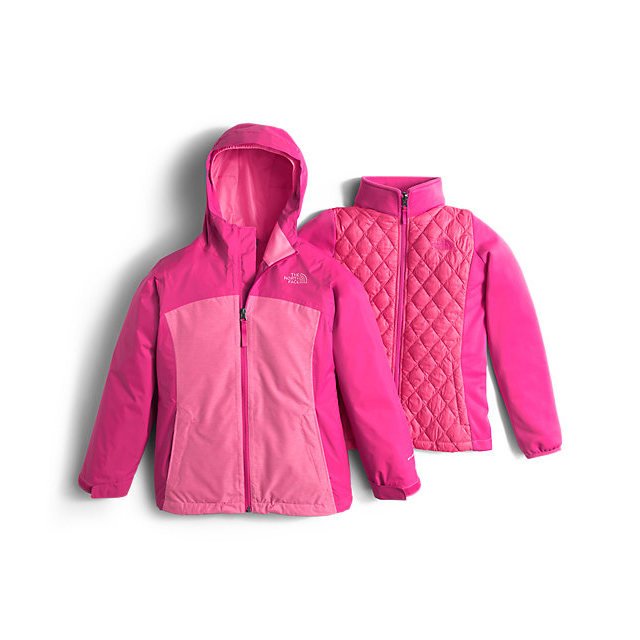 CHEAP NORTH FACE GIRLS' THERMOBALL TRICLIMATE JACKET CHA CHA PINK HEATHER ONLINE