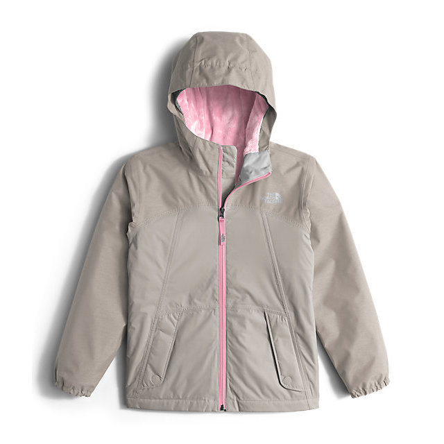 Discount NORTH FACE GIRLS' WARM STORM JACKET METALLIC SILVER ONLINE