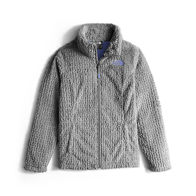 Discount NORTH FACE GIRLS' LAUREL FLEECE FULL ZIP METALLIC SILVER ONLINE