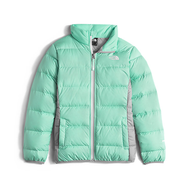 Discount NORTH FACE GIRLS' ANDES DOWN JACKET ICE GREEN ONLINE