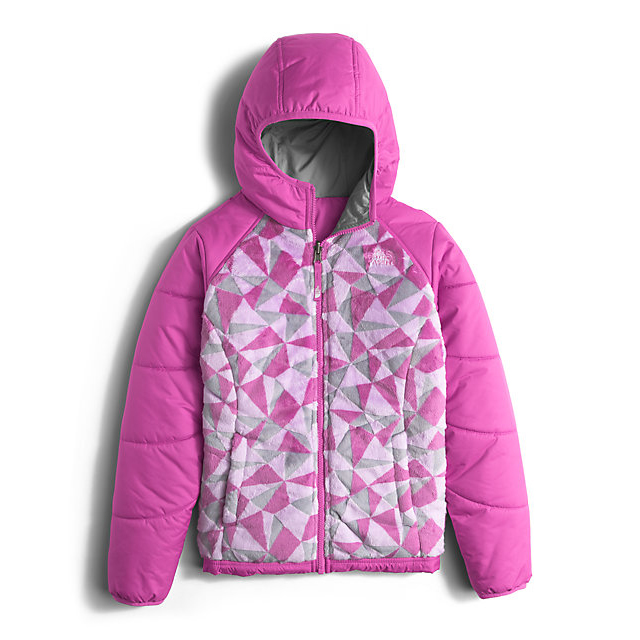 Discount NORTH FACE GIRLS' REVERSIBLE PERSEUS JACKET WISTERIA PURPLE TRIANGLE CAMO ONLINE
