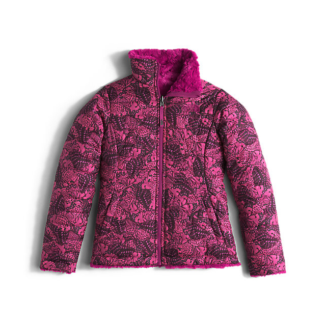 Discount NORTH FACE GIRLS' REVERSIBLE MOSSBUD SWIRL JACKET ROXBURY PINK BUTTERFLY CAMO ONLINE
