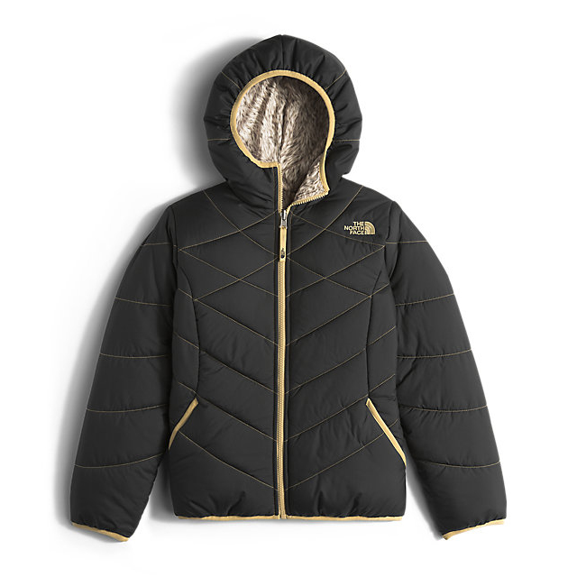 Discount NORTH FACE GIRLS' REVERSIBLE PERRITO JACKET BLACK ONLINE