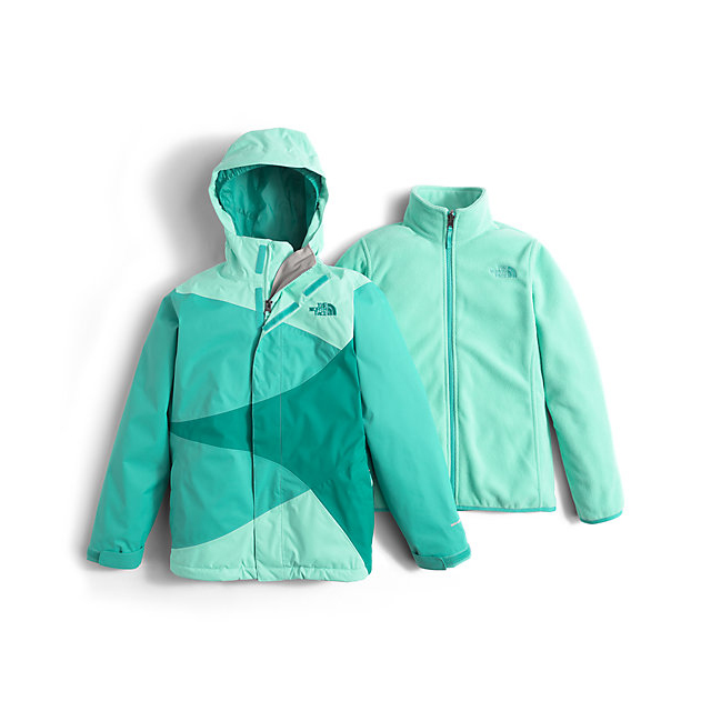 Discount NORTH FACE GIRLS\' MOUNTAIN VIEW TRICLIMATE JACKET ICE GREEN ONLINE