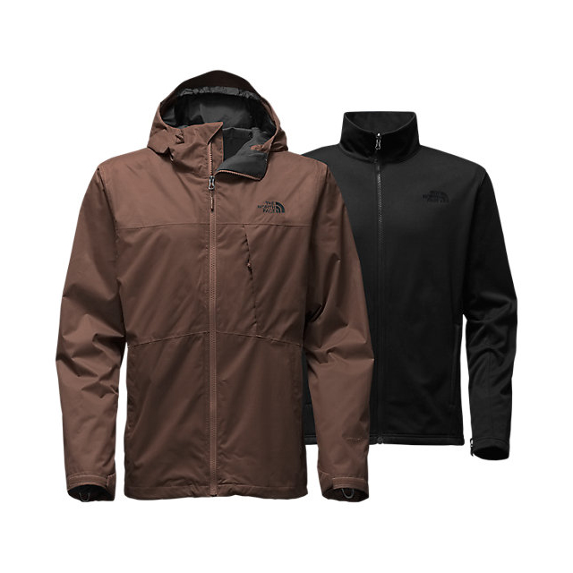Discount NORTH FACE MEN'S ARROWOOD TRICLIMATE  JACKET COFFEE BEAN BROWN ONLINE