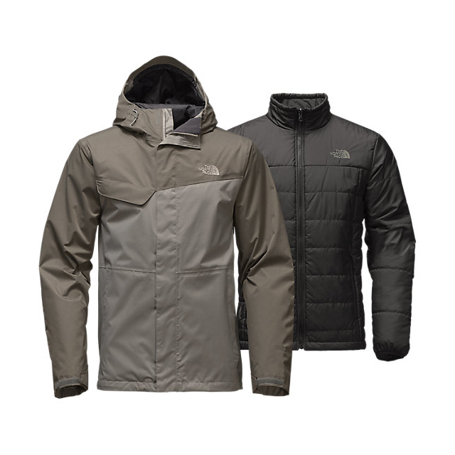 CHEAP NORTH FACE MEN'S BESWICK TRICLIMATE  JACKET MOONMIST GREY/FUSEBOX GREY ONLINE