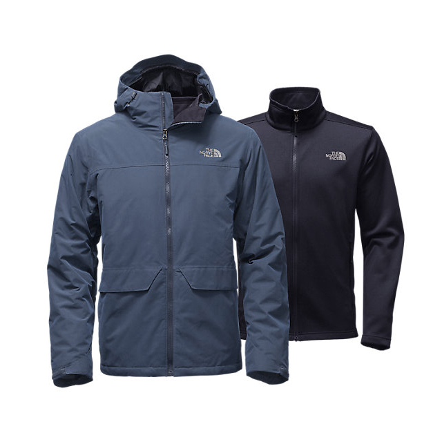 Discount NORTH FACE MEN'S CANYONLANDS TRICLIMATE  JACKET SHADY BLUE ONLINE