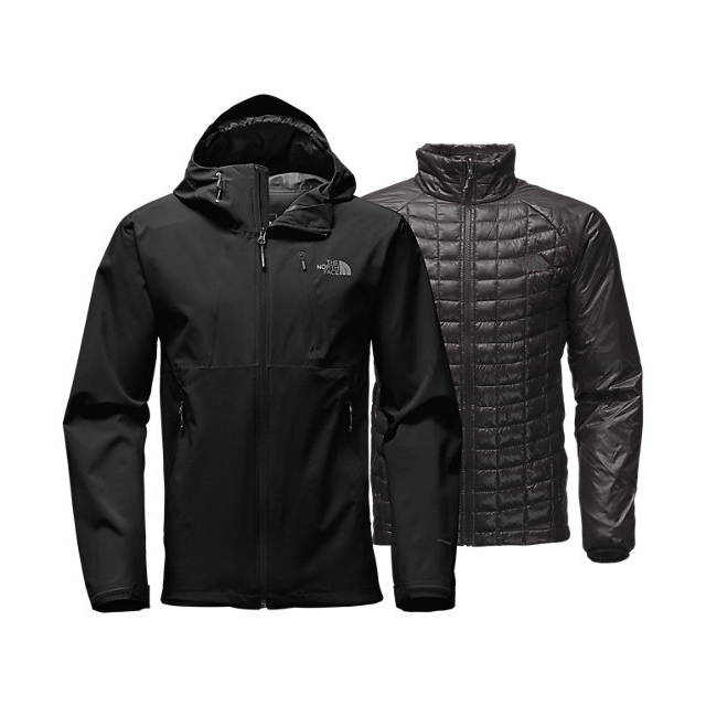 Discount NORTH FACE MEN'S THERMOBALL  TRICLIMATE  JACKET BLACK ONLINE