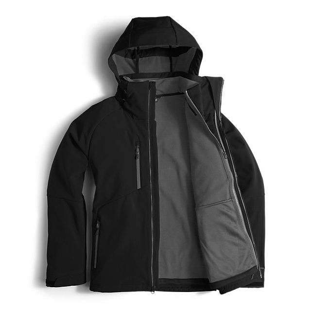 Discount NORTH FACE MEN\'S APEX STORM PEAK TRICLIMATE JACKET BLACK ONLINE