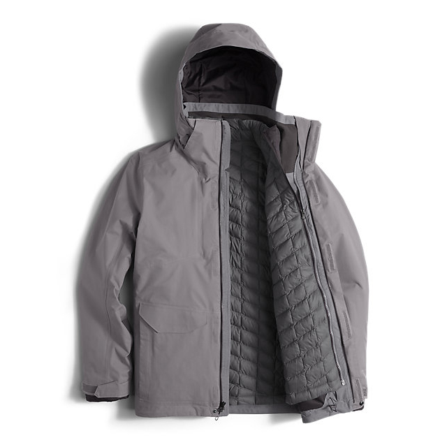 Discount NORTH FACE MEN\'S THERMOBALL SNOW TRICLIMATE PARKA ZINC GREY ONLINE
