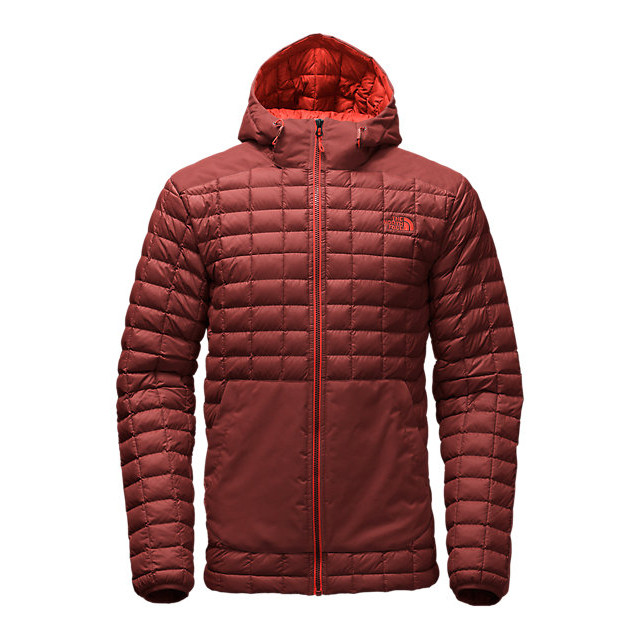 Discount NORTH FACE MEN'S THERMOBALL SNOW HOODIE HOT CHOCOLATE BROWN ONLINE