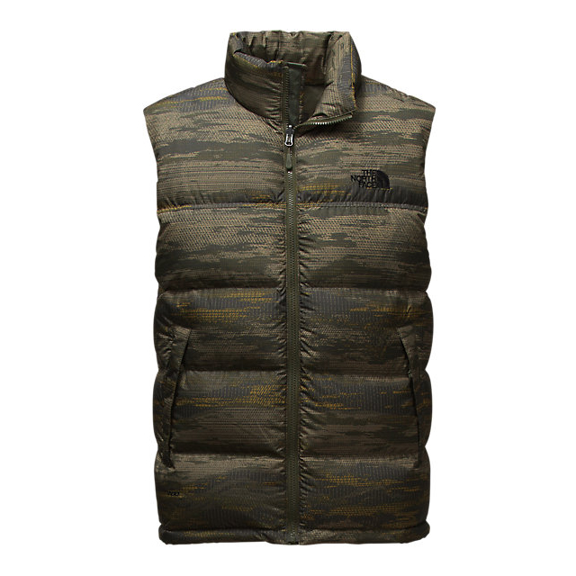 Discount NORTH FACE MEN'S NUPTSE VEST ROSIN GREEN GLAMO PRINT/ROSIN GREEN GLAMO PRINT ONLINE