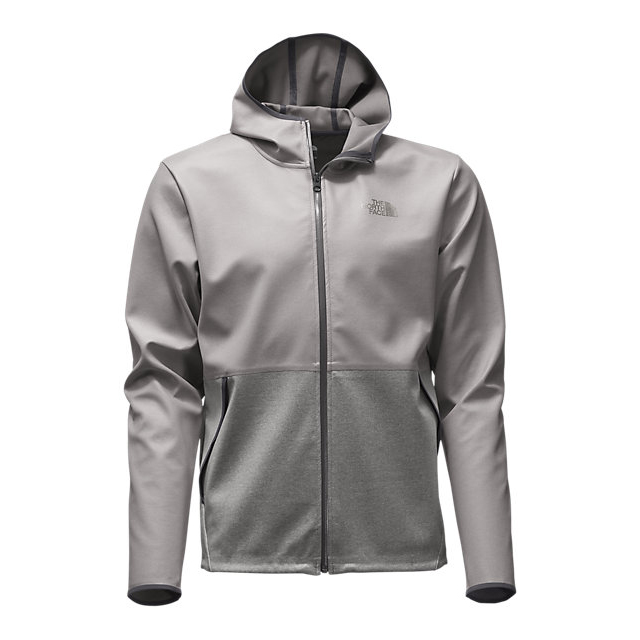 Discount NORTH FACE MEN'S WINDWALL COTTON FULL ZIP HOODIE ZINC GREY ONLINE