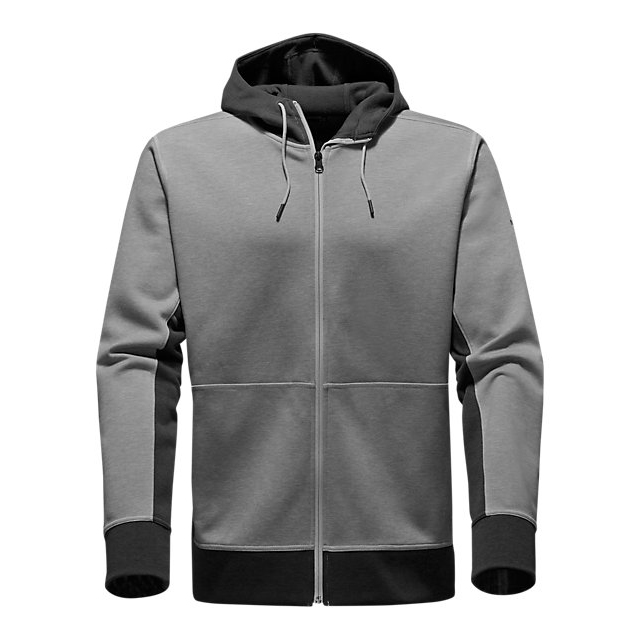 Discount NORTH FACE MEN'S SLACKER FULL ZIP HOODIE DARK GREY HEATHER ONLINE