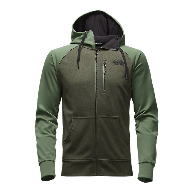 Discount NORTH FACE MEN'S MACK MAYS FULL ZIP HOODIE CLIMBING IVY GREEN DARK HEATHER (STD)/DUCK GREEN ONLINE