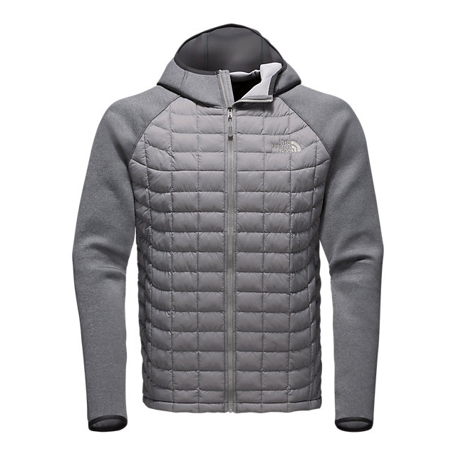 CHEAP NORTH FACE MEN'S UPHOLDER THERMOBALL HYBRID JACKET MOON MIST GREY STRIA/ MEDIUM GREY HEATHER ONLINE