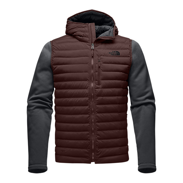 Discount NORTH FACE MEN'S TREVAIL STRETCH HYBRID JACKET SEQUOIA RED/ASPHALT GREY ONLINE