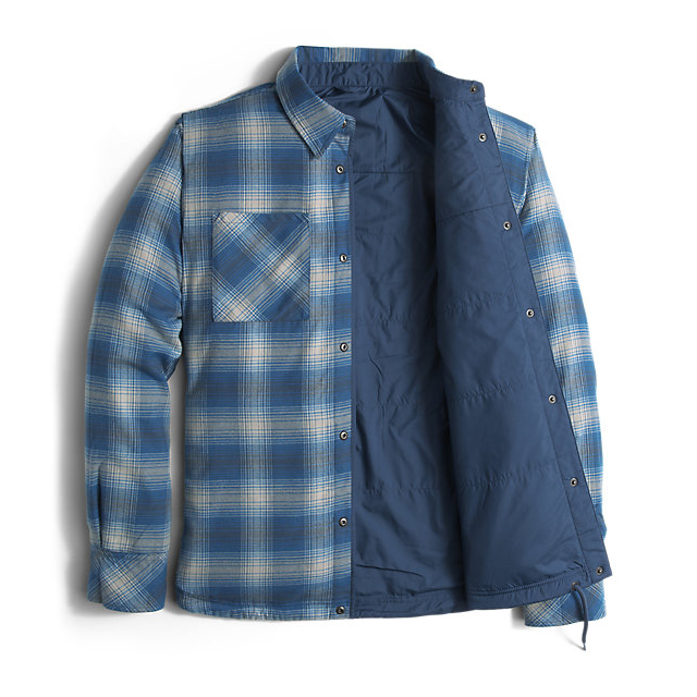 Discount NORTH FACE MEN\'S FORT POINT FLANNEL SHADY BLUE ONLINE