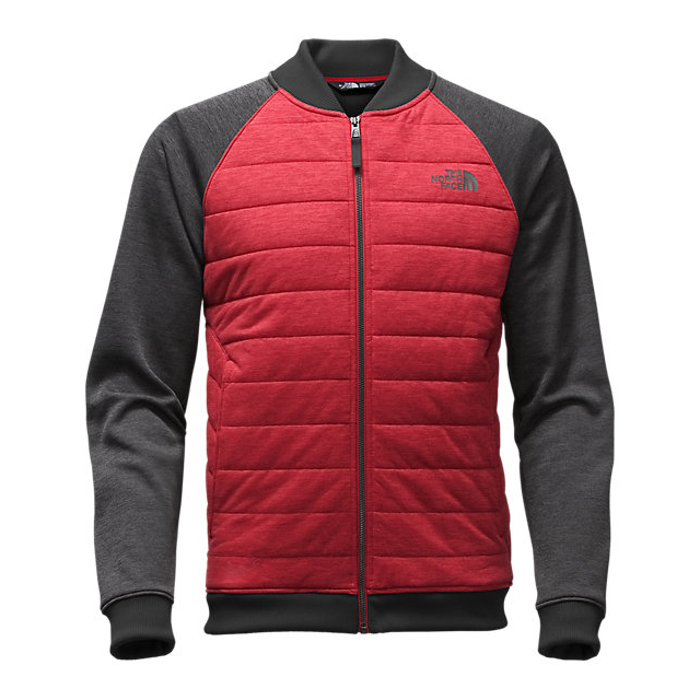 Discount NORTH FACE MEN\'S NORRIS POINT INSULATED FULL ZIP CARDINAL RED HEATHER/DARK GREY HEATHER ONLINE