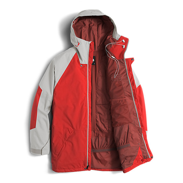 Discount NORTH FACE MEN\'S ACHILLES JACKET FIERY RED/DOVE GREY ONLINE